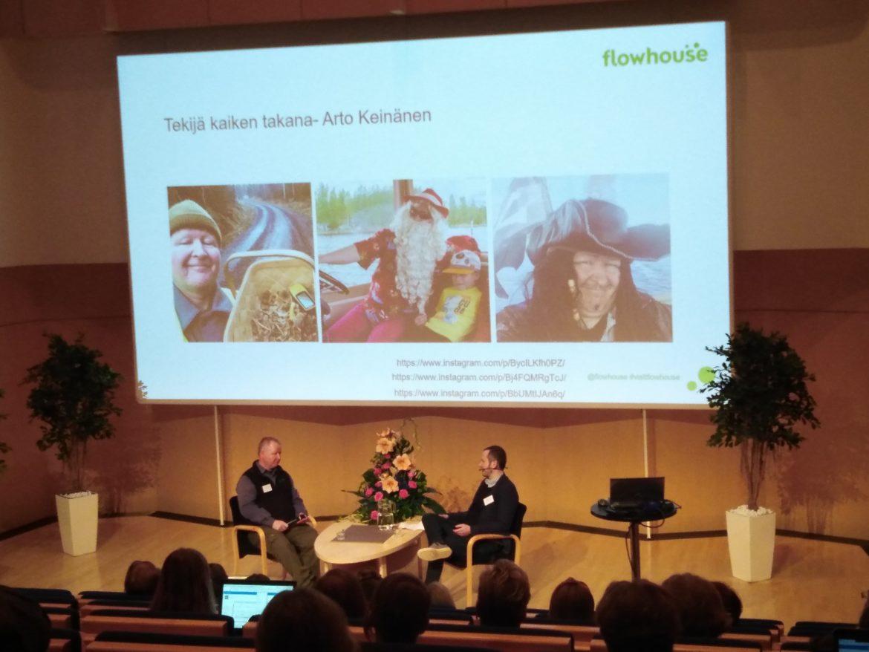 Arto Keinänen ja Miikka Raulo keskustelevat digitalisaatiosta