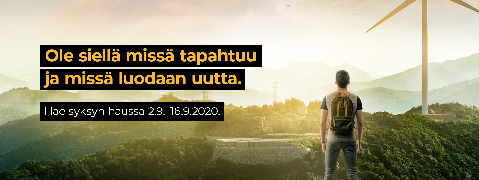 Syksyn hakuaika ammattikorkeakouluihin on 2.-16.9.2020.