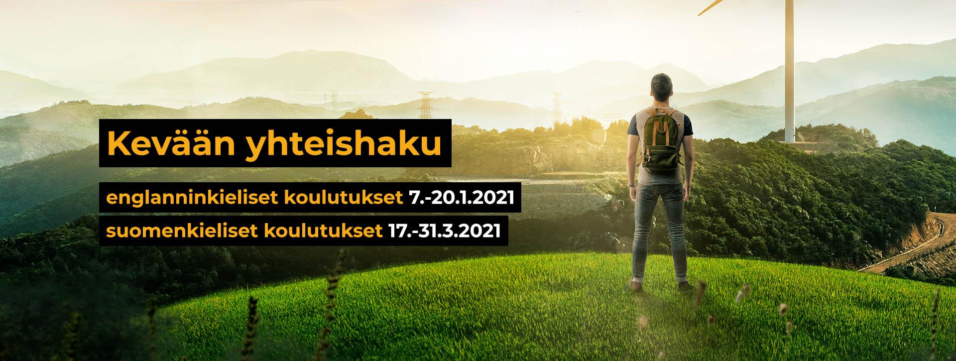 Kevään hakuajat 7.-20.1. ja 17.-31.3.2021