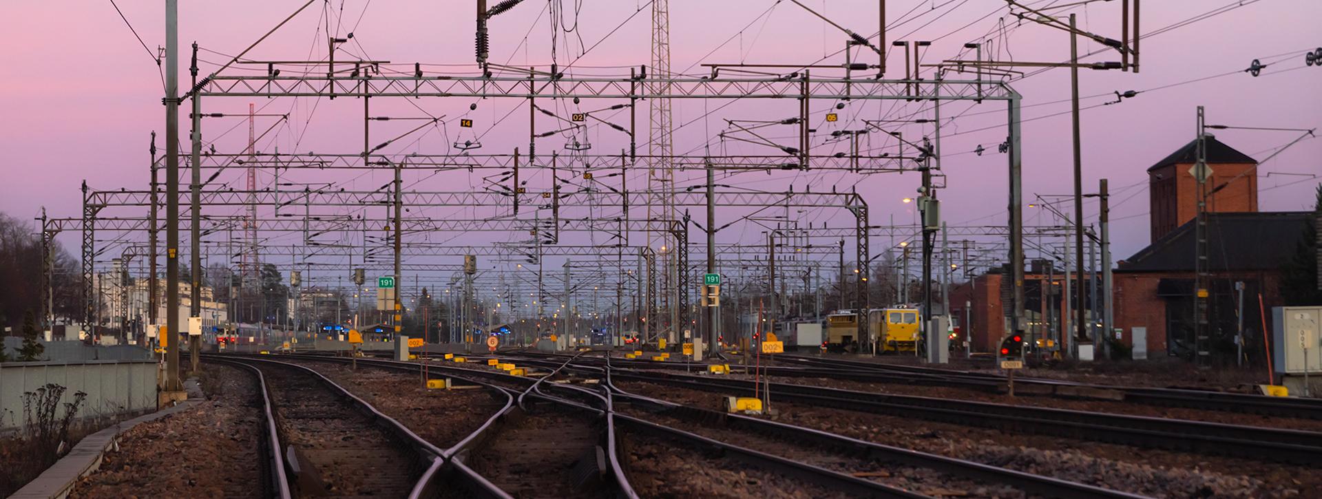 Kouvolan rautatieaseman raiteita ja ratatekniikkaa