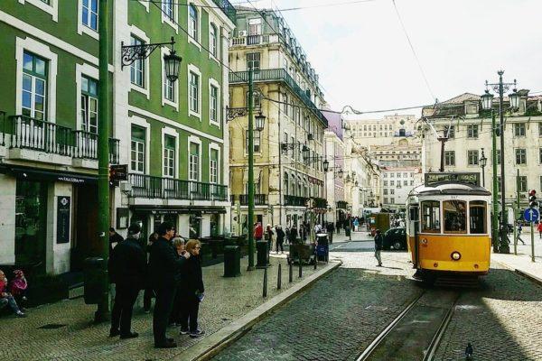 Lissabon kaupunkinäkymä