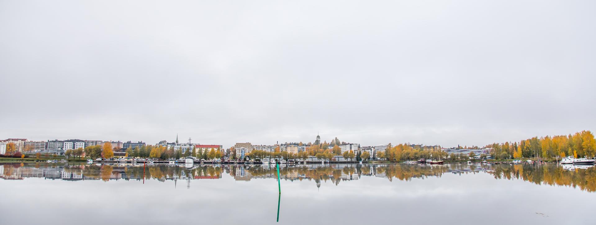 Yleiskuva MIkkelistä Saimaalta kuvattuna.