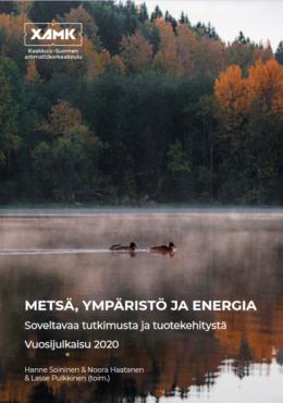 Kuvassa Metsä, ympäristö ja energia -vuosijulkaisun kansikuva.