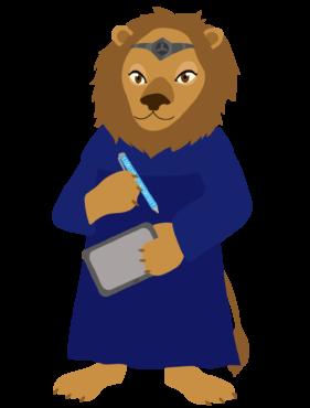 Janin pelihahmo on leijona, jolla käsissä ykkösestä ja nollasta muodostunut kynä, tabletti sekä otsalla insinöörisormus.